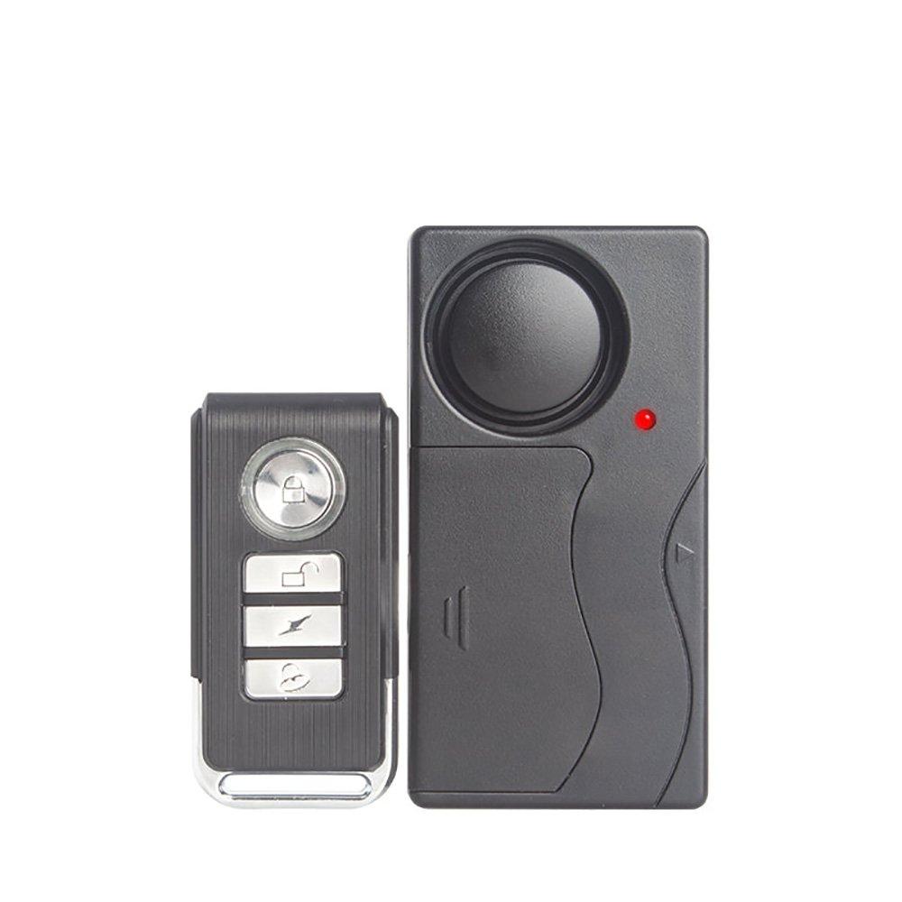 Mengshen Control Remoto Sensor de Seguridad de Alarma de Vibració n para Ventana de Puerta Bike Motorcycle Z07