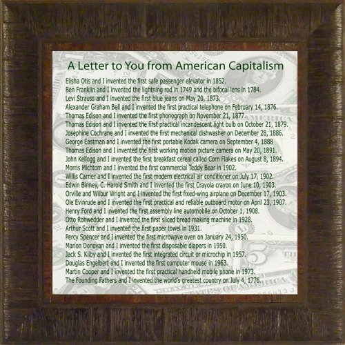 A Letter To You From American Capitalism By Todd Thunsted...