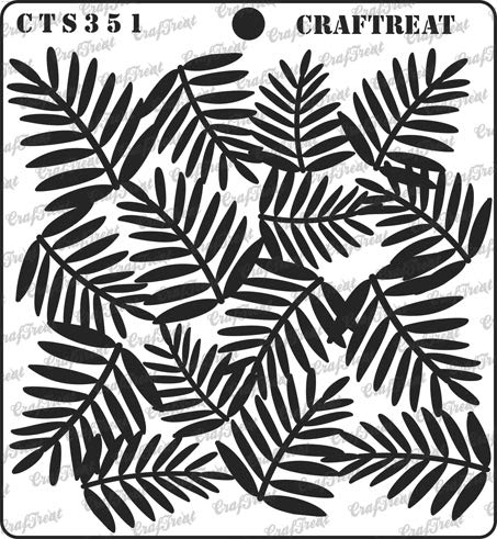 (CrafTreat Stencil - Areca Palm Leaves | Reusable Painting Template for Journal, Notebook, Home Decor, Crafting, DIY Albums, Scrapbook and Printing on Paper, Floor, Wall, Tile, Fabric, Wood 6