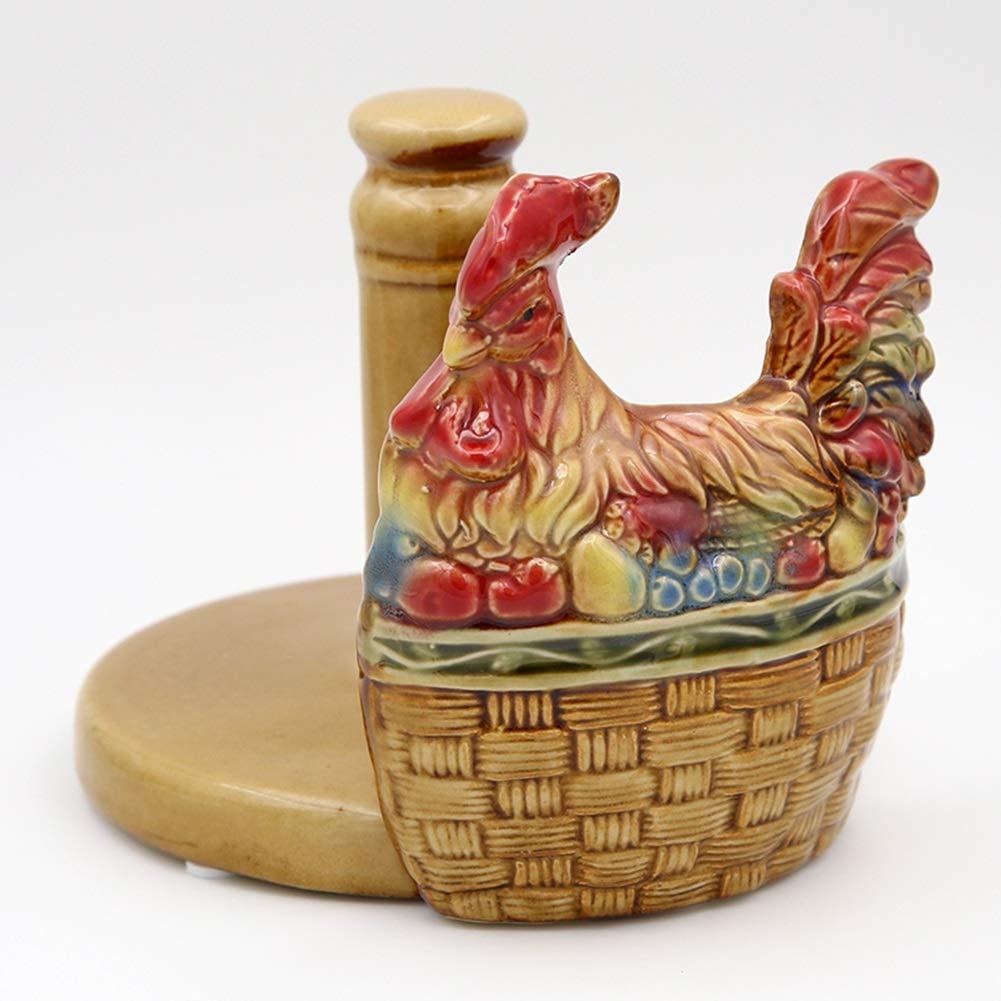 AHAI YU Supporto di Carta igienica Bagno in Ceramica igienica Scatola di Carta igienica Vassoio tavolino della Decorazione Color : Rooster