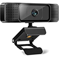 Webcam with Microphone,AuKing Web Camera 1080P Full HD USB Computer Camera,Laptop Desktop PC Camera 110 Degree…
