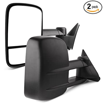 amazon com: yitamotor towing mirrors compatible for 88-98 chevy gmc c/k  1500 2500 3500 pickup pair set manual extendable side mirrors: automotive