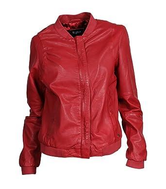 new style 318d4 568b2 Tigha Damen Lederblouson Lexa in Rot Chilli red M: Amazon.de ...