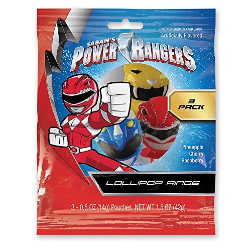 Power Ranger Masks Lollipop Rings (3 Count) (Power Rangers Masks)
