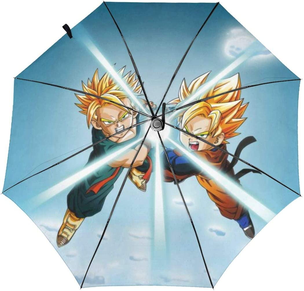 Dragon Ball Anime Automatic Tri-fold Umbrella