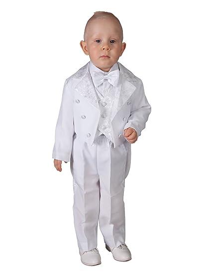 0ec821393a1 Boutique-Magique Costume baptême Blanc bébé Complet Queue de Pie ...