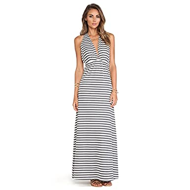 Lovers Friends Tristan Maxi Dress In Heather Grey White Large