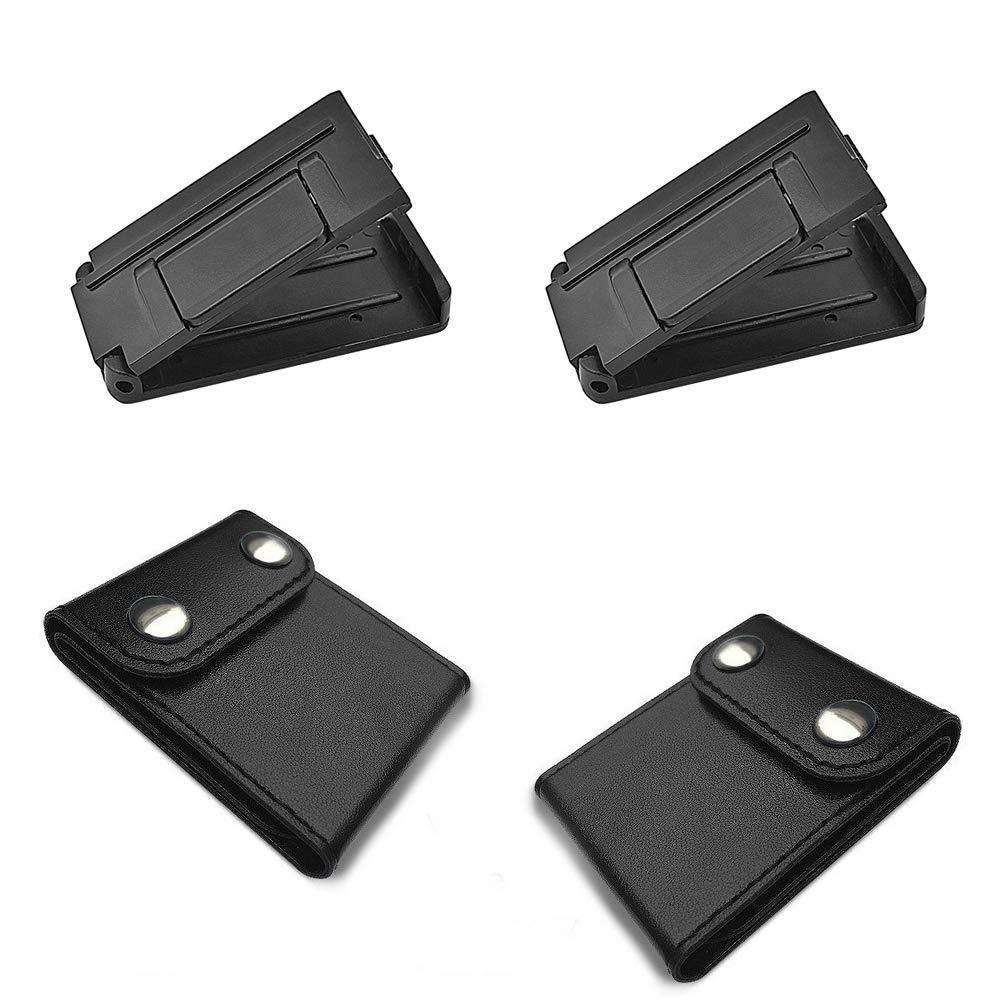 ManLee 2pz Fermacintura di Sicurezza Clip/Cintura/Sicurezza/Auto con 2pz Regolatore della Cintura di Sicurezza per Rilassare Spalla e Collo 57mm