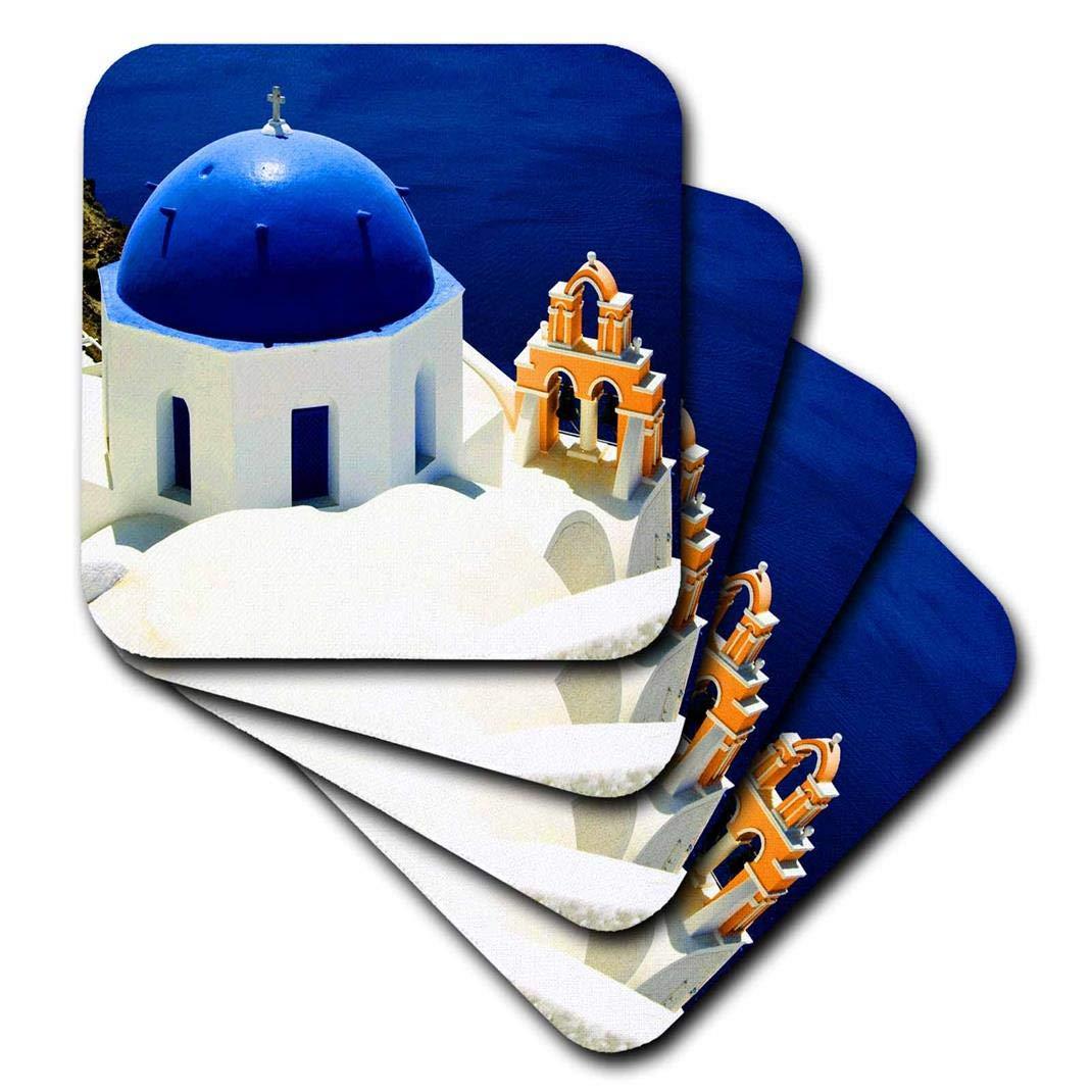 Ocean Santorini 3dRose Greece set of 8 cst/_193525/_2 - Soft Coasters