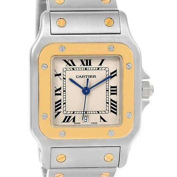 Cartier Santos galbee Cuarzo Mujer Reloj w20011 C4 (Certificado) de Segunda Mano: Cartier: Amazon.es: Relojes
