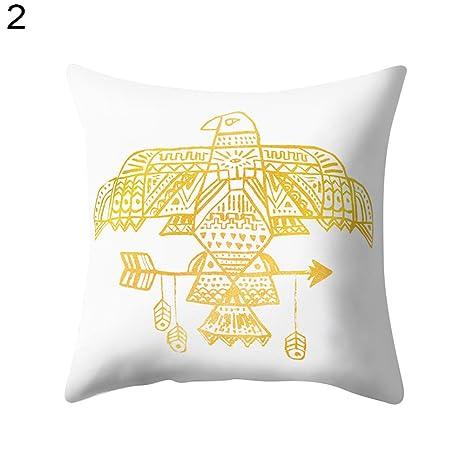 Amazon.com: Sofá cama manta cojín piña Leaf letras de ...
