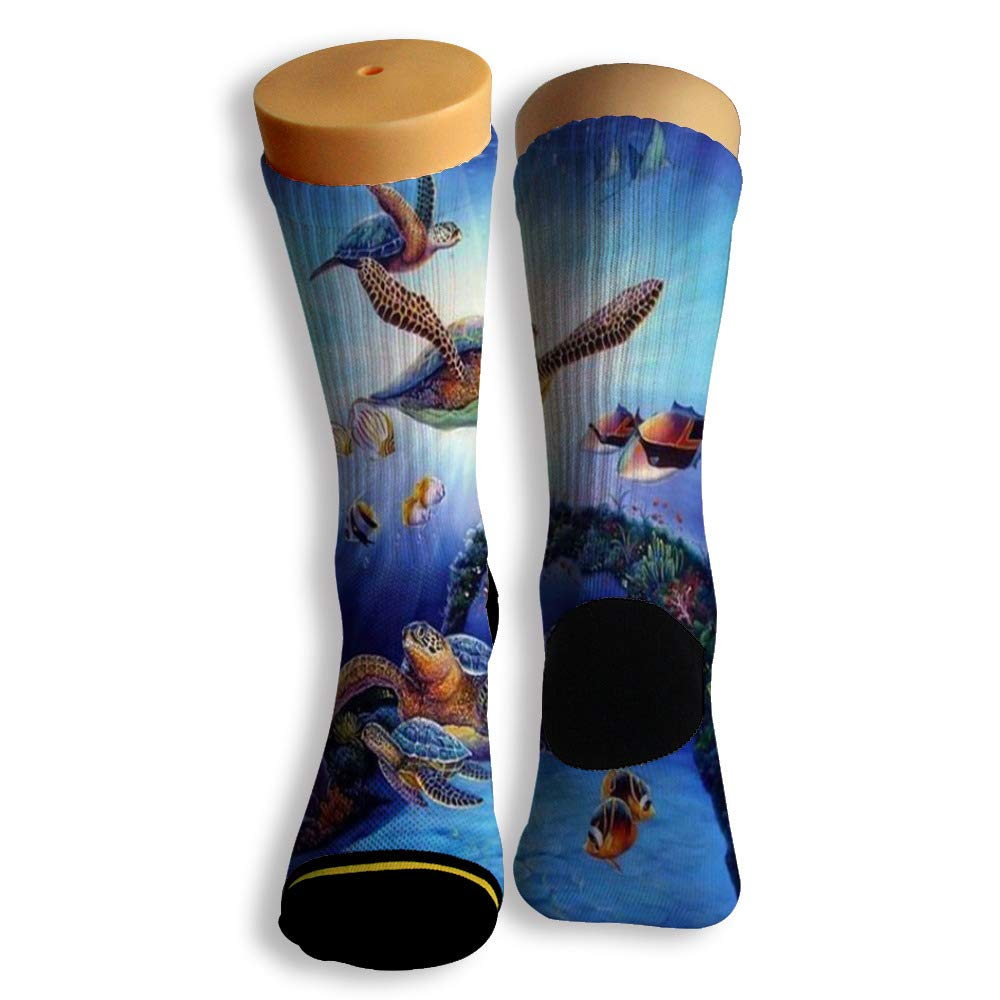 Basketball Soccer Baseball Socks by Potooy Mud turtle Illustrations 3D Print Cushion Athletic Crew Socks for Men Women