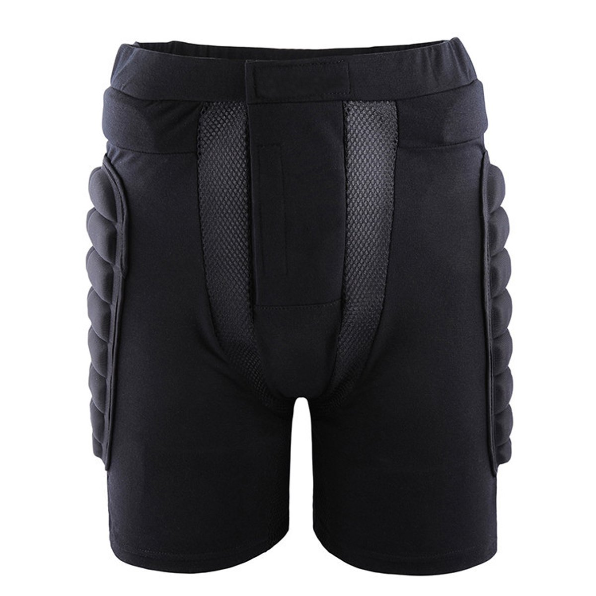 Uniquebella Impact Short 3D Padded Shorts Protective Hip For Children Aldult For Snowboard Skating Skiing Roller Padded Pants Protective Gear, Black (3XL)