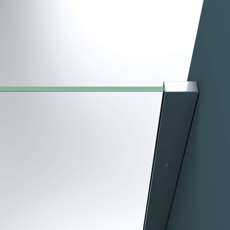 Mai /& Mai Paroi de douche 70x200 transparent BR2K pare-douche /à l/'italienne en verre tremp/é 10mm easy clean avec stabilisateur rond Bram1