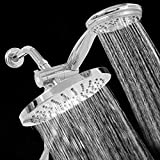 Monsoon Dual Spa Shower Head Set New 3 Way Shower Combo Setting Luxury Handheld Head Ultra Rainfall New Dual Chrome