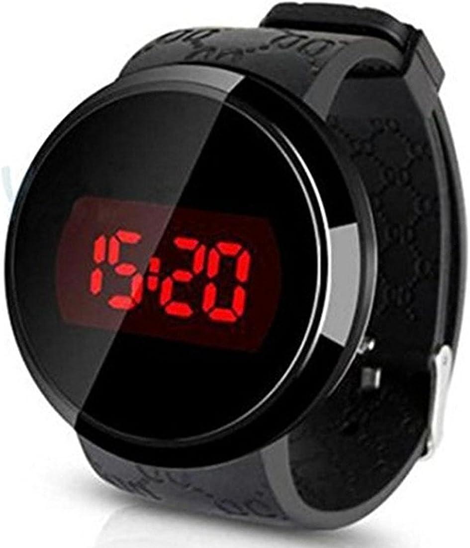 Reloj - SODIAL(R) Reloj,Sunstone Moda Hombres LED tactil Pantalla Dia Fecha Silicona Pulsera Reloj Digital LED Reloj Touch Negro