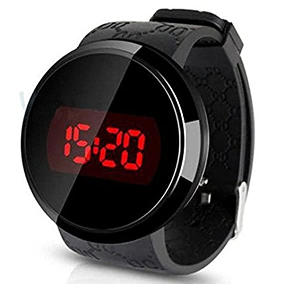 Reloj - SODIAL(R)Reloj,Sunstone moda hombres LED tactil pantalla dia fecha silicona pulsera Reloj Digital LED reloj Touch negro: Amazon.es: Relojes