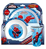 Spider-Man Tumbler, Bowl and Plate Set, Red White, 8.5 x 23.5 x 23 cm