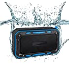 Zebre Waterproof Bluetooth 4.1 dustproof /10 Hours Continuous Play/Enhanced Bass/Double Motor/Built-in Microphone/aux Input/Micro sd car /10 Meters Transmission(BIue)