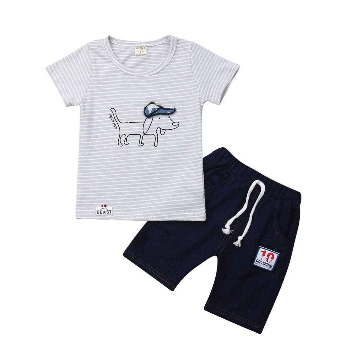 Kids Baby Summer Outfits Short Sleeve T-Shirt /& Shorts Sets 1-4Y Toddler