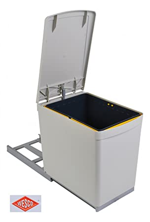 Wesco Einbau Abfallsammler 16 Liter Mülleimer Müllsammler ...