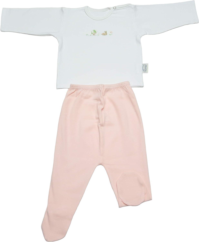 Completo Intimo Neonato Maglietta Pantalone Ghettina con Piedino Caldo 100/% Cotone