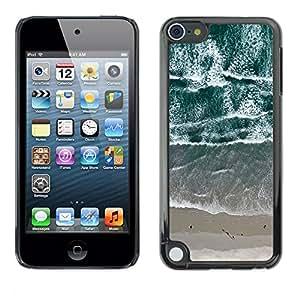 Caucho caso de Shell duro de la cubierta de accesorios de protección BY RAYDREAMMM - Apple iPod Touch 5 - View Beach Waves Sand Sea