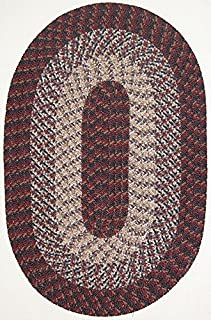 product image for Constitution Rugs Hometown 7' Round Braided Rug in Burgundy