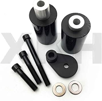 XKH Replacement of Motorcycle No Cut Frame Slider Crash Protector For 2003 2004 Suzuki GSXR 1000 GSX R Chromed by XKH