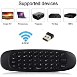 Prime Deals Wireless Air Mouse with Gyroscope, Qwerty Handheld Mini Keyboard Android Remote Control for Windows Mac OS Linux PC HTPC IPTV Media Player Smartphone Game Pad