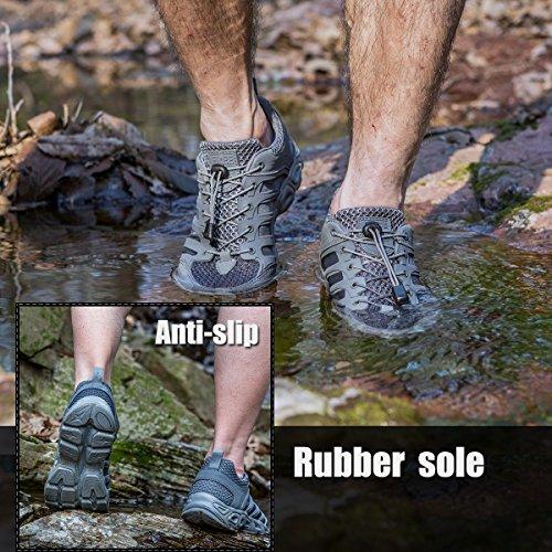 Libre Soldado hombre Watershoe Ultra luz transpirable de secado rápido zapatos Sand Color