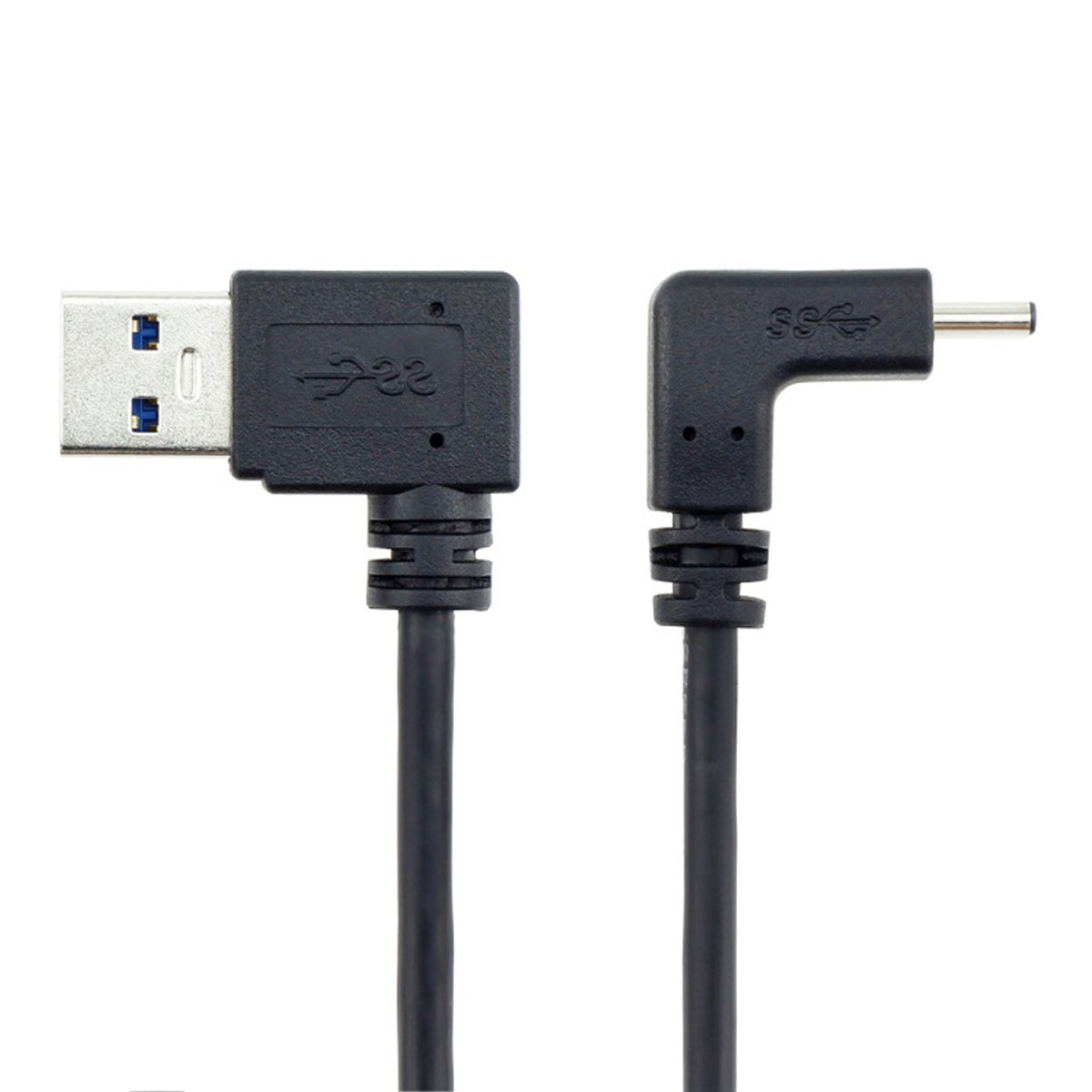 YOUKITTY 10pcs//lot 100cm USB 3.1 USB-C Up /& Down Angled to 90 Degree Left Angled A Male Data Cable for Laptop /& Tablet /& Phone