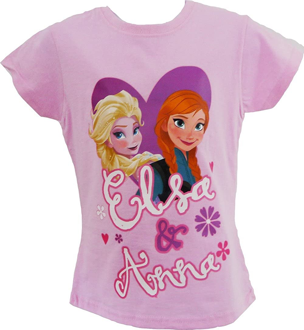 Disney Girls Frozen Anna ed Elsa t-Shirt