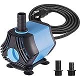 KEDSUM 400GPH Submersible Water Pump(1500L/H,40W), Ultra Quiet Submersible Pump, Fountain Pump-7ft High Lift, 6.6ft…