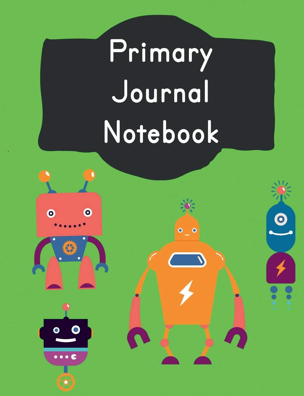 Download Primary Journal Notebook: Vintage Robots Story Composition: School Grade Level K-2 Practice Penmanship, 7.44 x 9.69 100 Dotted Midline Pages: Creative ... Childhood to Kindergarten First and Second pdf epub