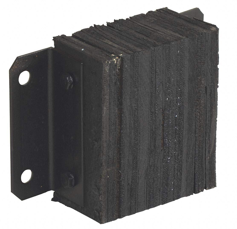 Rectangular Laminated Rubber Dock Bumper, 10''H x 14''W x 4-1/2''D