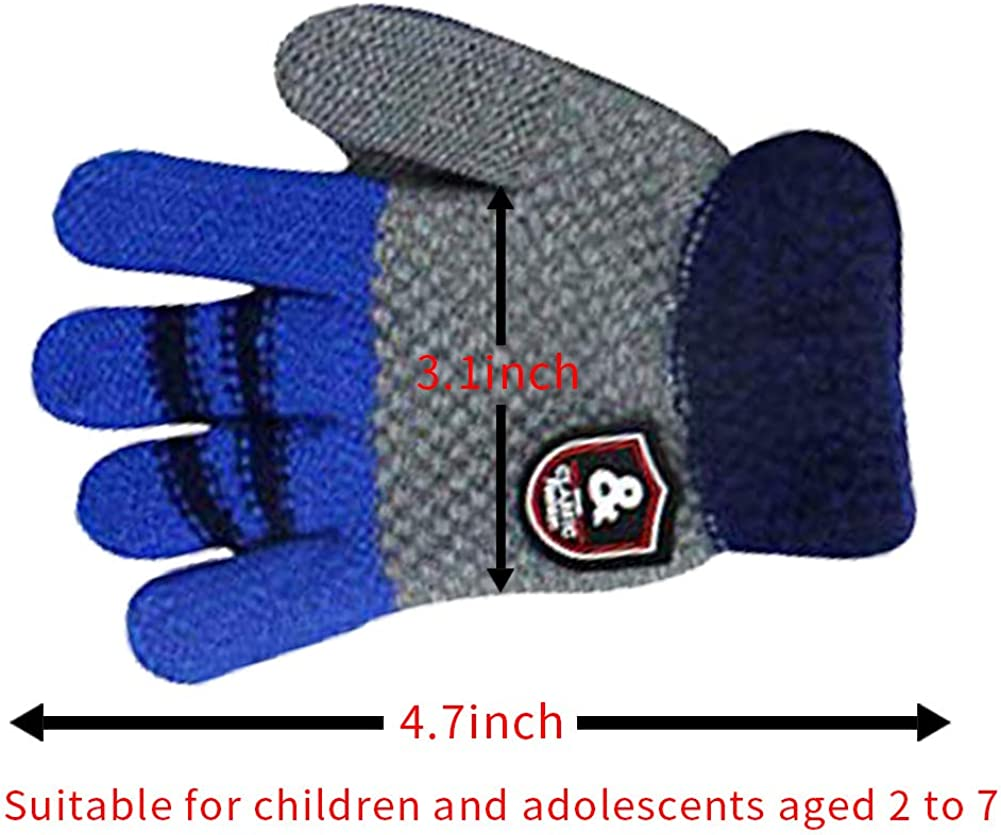 Childrens Boys Kids Thermal Magic Football Design Gloves Extra Warmth Gripper Gloves Winter with Palm and Finger in Three Trendy Colours Combinations One Size