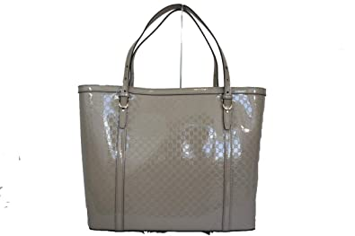 dba8e2743ce Image Unavailable. Image not available for. Color  Gucci Nice  Microguccissima 309613av12g Storm Grey Patent Leather Tote