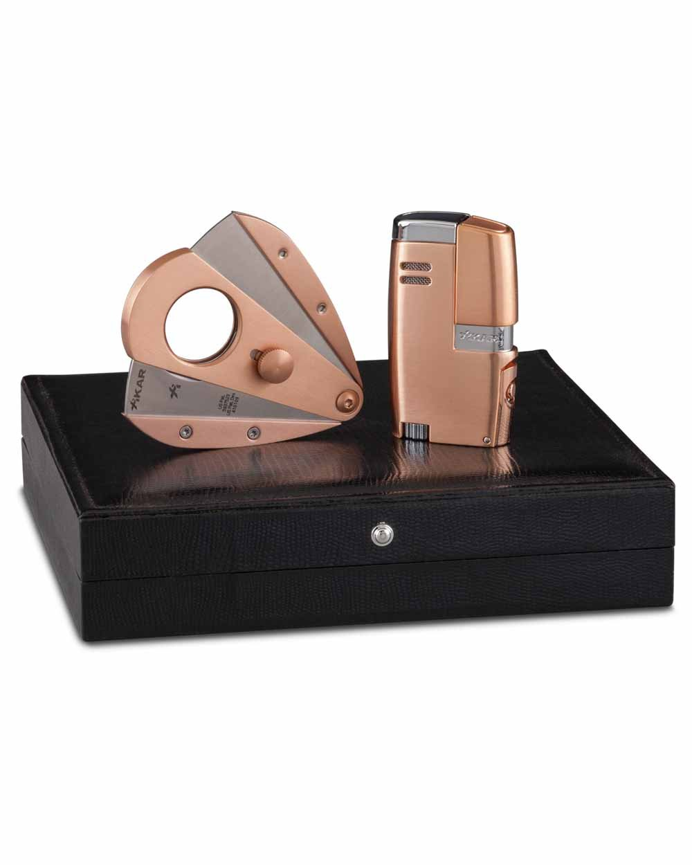 Rose Gold Limited Edition Vitara Cigar Lighter Xi3 Cutter in an Attractive Gift Box Warranty