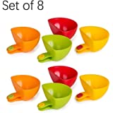 Dip Clip Bowl Holder , Plastic Can Be A Bowl Tray Salt Plate Cup Set Of 8 , Kitchen & Restaurant Serving Dish Sauce Dipping Colorful Table Bowls , For Spices , Pistachio , Sugar , Condiment , Pignut