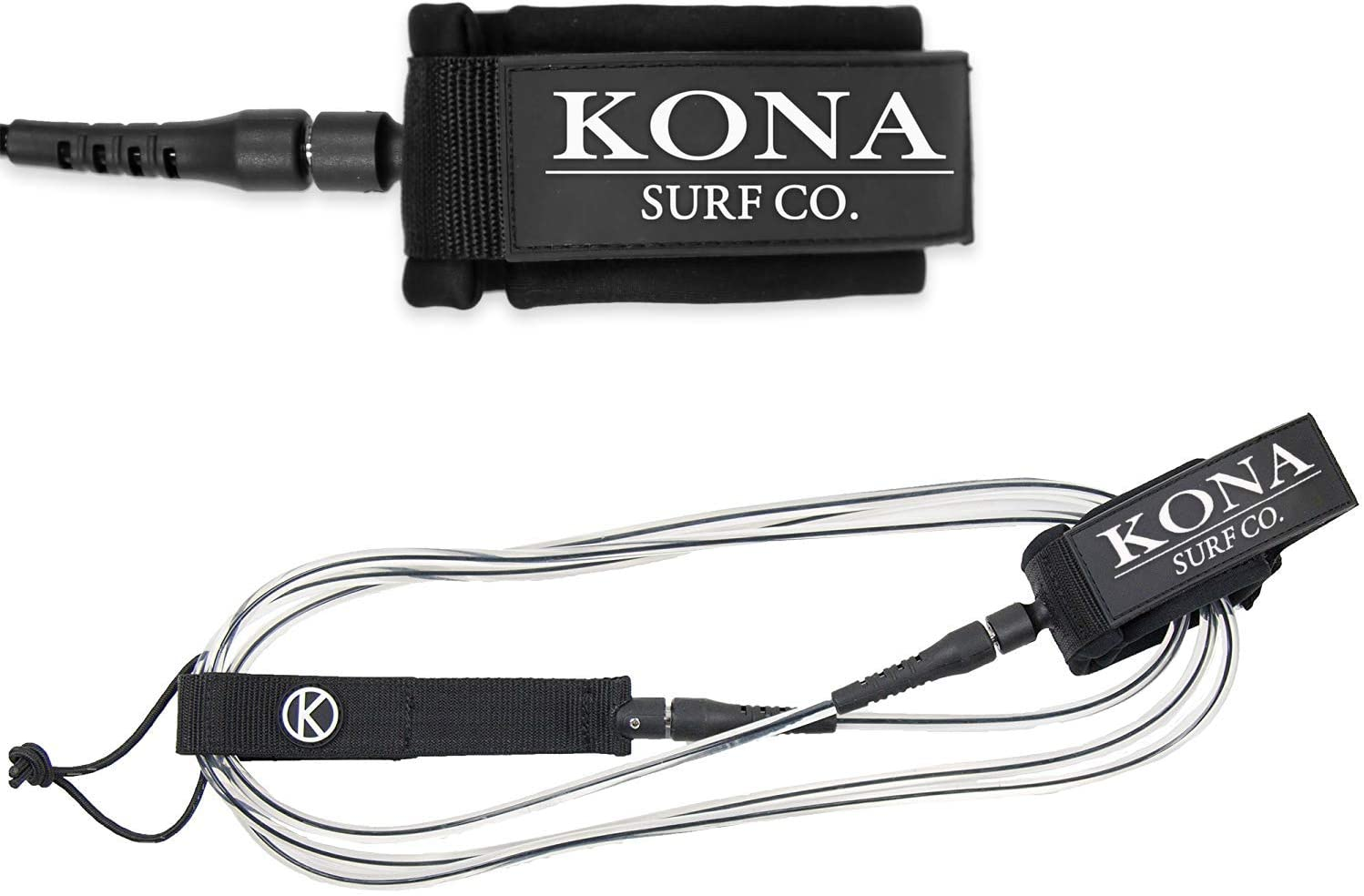Premium Straight Comp Surfboard Leash Leg Rope for Shortboards and Longboards KONA SURF CO
