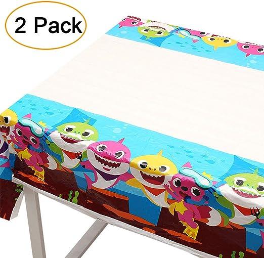 Amazon.com: Mantel de tiburón para mesa de bebé, decoración ...