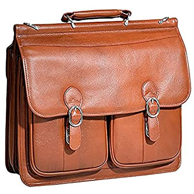 McKlein USA S series HAZEL CREST Leather Double Compartment Laptop Case on sale