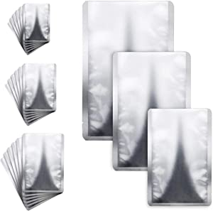 SKPPC 35 Pack Mylar Aluminum Foil Bags, 3 Size Metallic Mylar Foil Flat Heat Sealable Bags, Aluminum Foil-Lined Storage Bags for Food, Dried Flowers, Baking, Herb