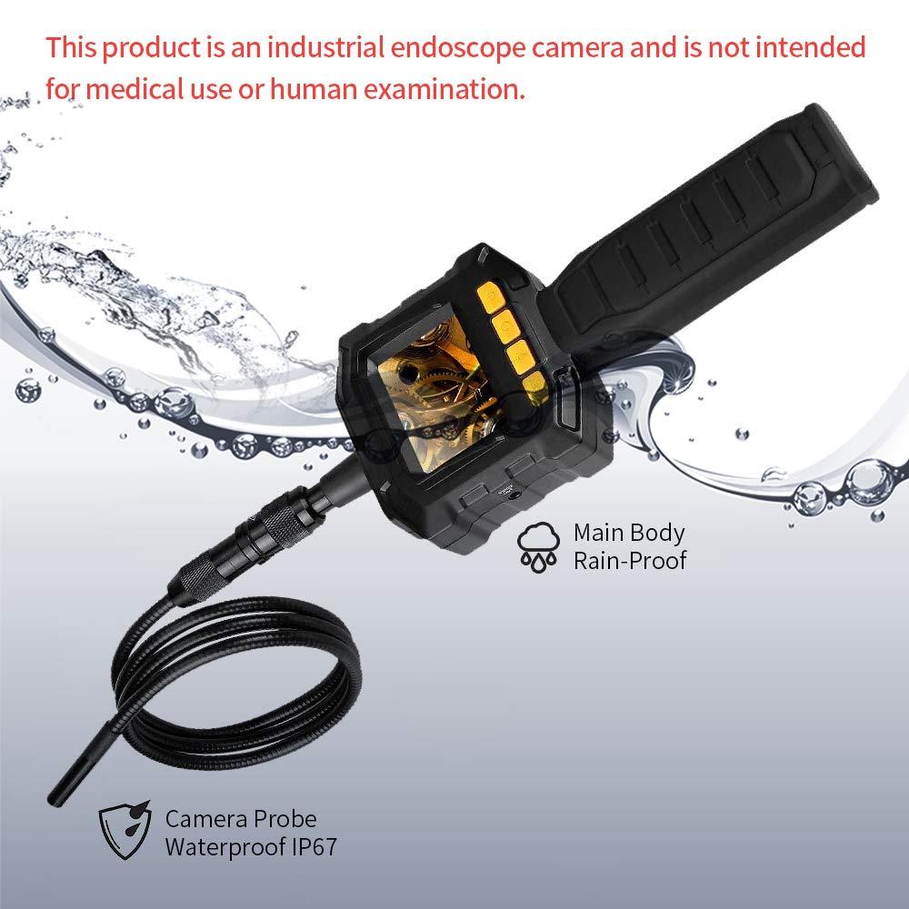 Cámara de inspección, cámara de endoscopio, tubos de inspección o lugares de difícil acceso, tubo de boroscopio impermeable IP67, lente TFT-LCD, caja ...
