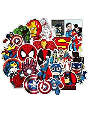 Set of 50 Superman Sticker Cartoon Superhero Stickers for Snowboard Car Styling Luggage Fridge Laptop Toy Vinyl Decal Home Decor Cool Stickers