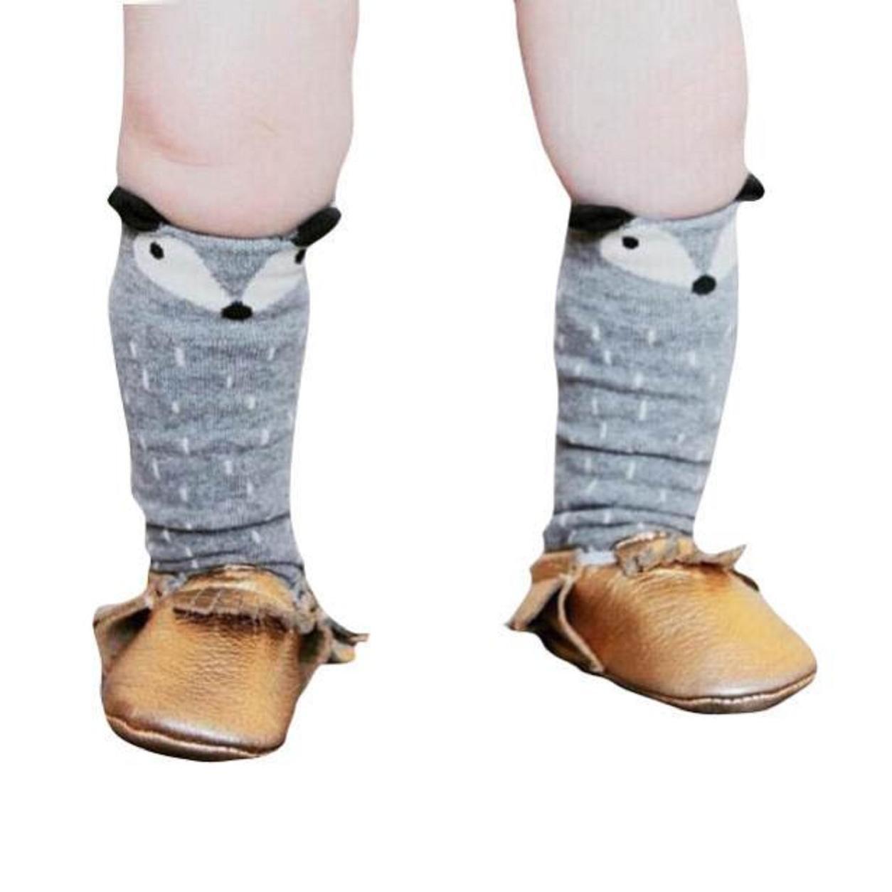 Malloom® Niños Niños Niñas Zorro Patrón Rodillera calcetines altos para la edad de 1-3 años: Amazon.es: Ropa y accesorios