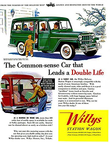 Willys Jeep Wagon - 1954 Willys - Jeep Station Wagon - Promotional Advertising Poster