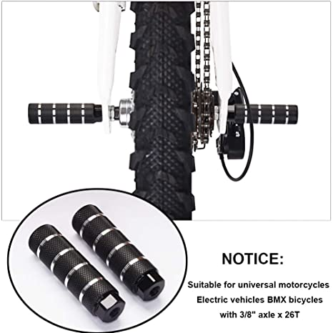 Black Helaryfreemear 2Pcs Aluminum Alloy Anti-Skid Lead Foot pedal BMX Pegs