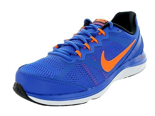 Derivación escanear Descendencia  Buy Nike Dual Fusion Run 3 Mens Running Shoes 653596-403 Lyon Blue Total  Orange-Black-White 11. 5 M US at Amazon.in